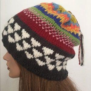 Hand Knits 2 Love Beanie Slouch Hat Boho Chic Cap